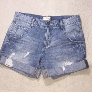 Ladies Forever 21 Distressed Cuffed Jean Shorts